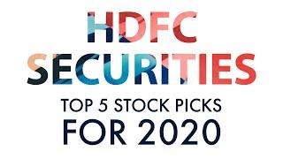 HDFC Securities's Top 5 High Quality Stock Picks for 2020
