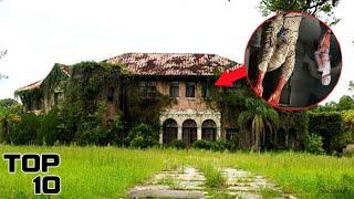 Top 10 Scary Abandoned Mansion Discoveries - Part 2