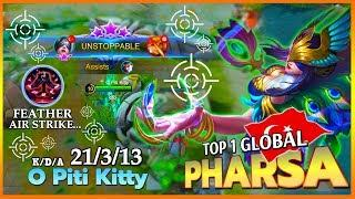 Side by Side Deadly Feather Strike?! | Top 1 Global Pharsa by O Piti Kitty ~ Mobile Legends