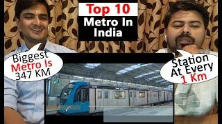 Top 10 Biggest Metro Rail in India | Top 10 Largest Metro system Metro Line in India