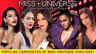 Top 10 Popular Candidates Of Miss Universe 2020/2021||Strongest Candidates||Aboutmore