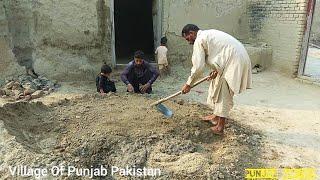 Village Life In Pakistan   Mudd Plaster   Mitti K Ghar   Pakistan Rural Life