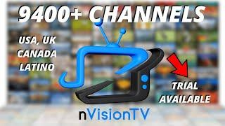 OVER 9400 CHANNELS US CA LATIN 24/7 LOCALS BEST IPTV SERVICE 2020 TOP TV APP LINK NvisionTV