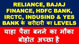 Reliance Bajaj Finance HDFC Bank IRCTC Indusind Bank Yes Bank stock analysis | multibagger shares