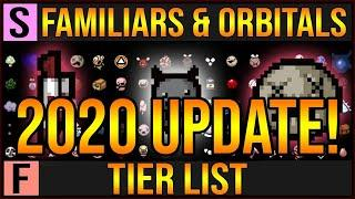 ISAAC FAMILIARS TIER LIST - 2020 UPDATE! - The Binding Of Isaac Afterbirth+ Tier List