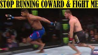 Top 10 SCARED Fighters Who Refused to Fight and Just Ran Away