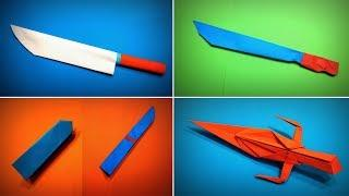 TOP 5 Origami Knife | How to Make a Paper Knife / Sword / Dagger DIY | Easy Origami ART Paper Crafts