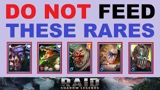 ~DO NOT~ FEED these RARES!.. (Mid & End Game Viable Rare Champions in RAID: Shadow Legends)