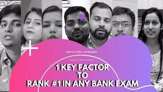 1 Key Factor to Rank #1 in any Bank Exam | SBI PO Topper, SBI Clerk Topper & Top Bank Exam Educator