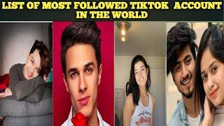Most followed tik tok account in the word|| Top 10 tiktoker in the world