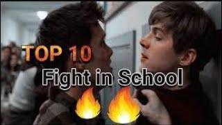 TOP 10 school  fights satisfya scences