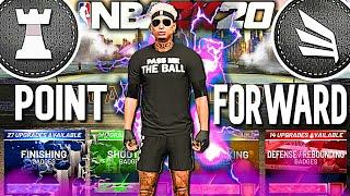 THIS POINT FORWARD IS A 6'7 DEMON ON NBA 2K20! BEST POINT FORWARD BUILD | DEMI GOD