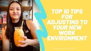 "Top 10 tips to help you adjust to your new ""work form home environment"" with Jasmin Wilson"