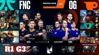 Fnatic vs Origen - Game 3 | Round 1 PlayOffs S10 LEC Spring 2020 | FNC vs OG G3