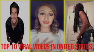 Top 10 Viral Videos in united states - Top 10 viral videos in tiktok vidoes december 2019