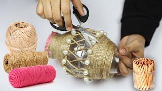 Beautiful decoration ideas with jute rope craft | DIY Jute Home decorating ideas handmade easy
