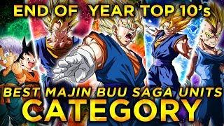 2019 END OF THE YEAR TOP 10'S! TOP 10 MAJIN BUU SAGA UNITS IN DOKKAN! (DBZ: Dokkan Battle)