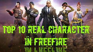 Top10 character in real life||Top 5 BestCharacter In Free Fire||Top 10 FamousCharacter in Free Fire