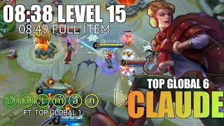 Claude Expert Leveling 8 Minute Lv 15.ⓑⓐⓣⓜⓐⓝ Top Global 6 Ft.Top Global 1 Season 16 - Mobile Legends