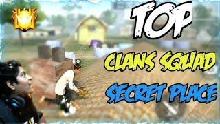 Clans squad Secret place in free fire || Top hidden place in free fire || One day Rank push