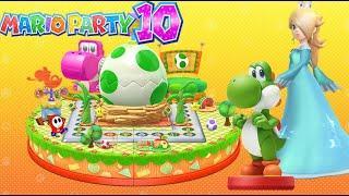 Mario Party 10 Amiibo Yoshi Board - Yoshi vs Rosalina | MARIO CRAZY