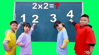 Learn Math at School (② X ② = ? ) ✅  Best Test Math and Numbers for Kids Exam HCN Go School