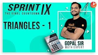 Triangles Sprint IX | CBSE Class 9 Maths Chapter 7 | NCERT Solutions | Vedantu Class 9 and 10
