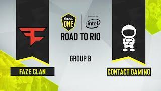 CS:GO - FaZe Clan vs. c0ntact Gaming [Inferno] Map 1 - ESL One Road to Rio - Group B - EU