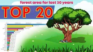 Top 20 Countries by forest area for the last  30 years