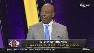 [BREAKING] James Worthy REPORT LeBron return tonight lead Lakers crush Grizzlies