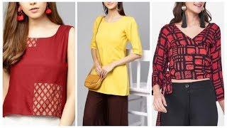 Top 10 short printed tunic for office wear,work from home kurti design ideas