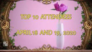 TOP 10 ATTENDEES  [ RT AVID FAN GROUP ]
