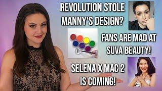 What's Up in Makeup NEWS! Makeup Revolution COPIES MannyMUA? SUVA Beauty In Trouble & Selena Part 2!