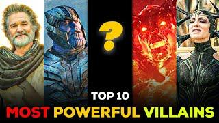 Top 10 Most Powerful Villains in MCU Explained in Hindi || SUPER INDIA