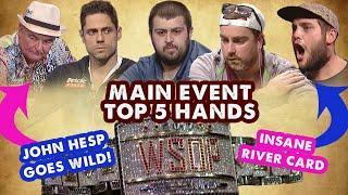 2017 WSOP Main Event Top 5 Hands   World Series of Poker