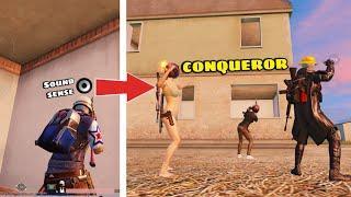 2 Conqueror tips to wipe any squad with Sound Sense   PUBG MOBILE Solo vs Squad - Maxtern