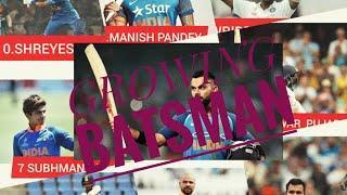 India's top 10 growing batsman, ran rate, total runs, strike rate etc....