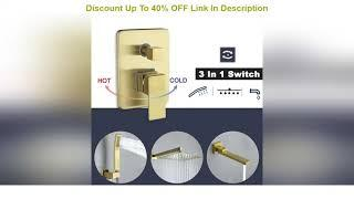 Top 10 Shower System, Tub Shower Faucets Set Complete with Shower Tub Spout, 10-inch Square Shower