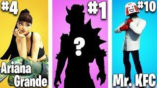 Top 10 Fortnite Skin Concepts THAT SHOULD BE A THING!! (Ariana Grande, Charizard + Mr. KFC)