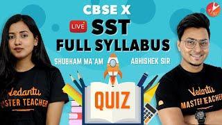 SST LIVE MCQ QUIZ | FULL Syllabus | CBSE Class 10 Social Studies | NCERT @Vedantu Class 9 & 10