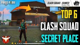 Clash Squad Rank Secret Place Free Fire || Top 6 Secret Place In Clash Squad - GARENA FREE FIRE