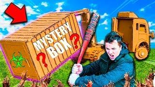 $10,000 Mystery Box Fort Zombies CAR Survival! 24 Hour ZOMBIES Nerf War Z