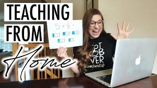A Day in the Life of a Teacher Teaching from Home During COVID19 | VLOG