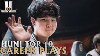 Huni Top 10 Career Plays | Lol esports