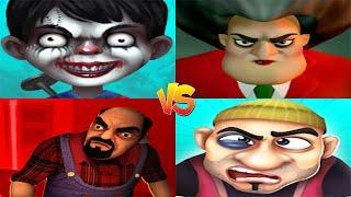 Scary Child VS Scary Teacher 3D VS Scary Stranger 3D VS Scary Robber Home Clash - Android & iOS