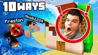 Top 10 Ways to PRANK Jelly's Minecraft House!