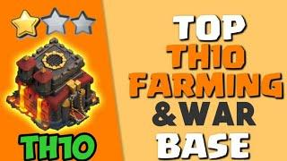 TOP TH10 WAR BASE || WITH LINK IN THE DESCRIPTION || Th10 war base 2020 || th10 war base link COC