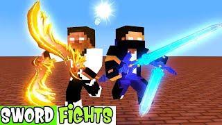 BEST SWORD FIGHTS Monster SchooL | Minecraft Animation