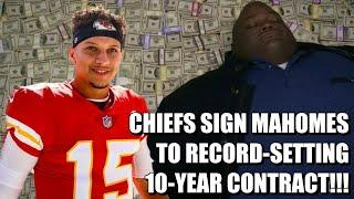 Chiefs Sign Patrick Mahomes to Record-Setting 10-year Contract!