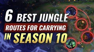 6 NEW BEST Jungle Routes For SOLO HARD CARRYING Solo Queue - League of Legends Season 10